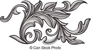 Engraving clipart scroll Frame Ancient of element of