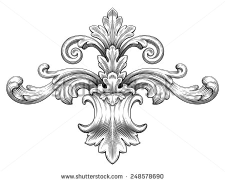 Pattern clipart baroque Leaf Retro Pattern Engraving Frame