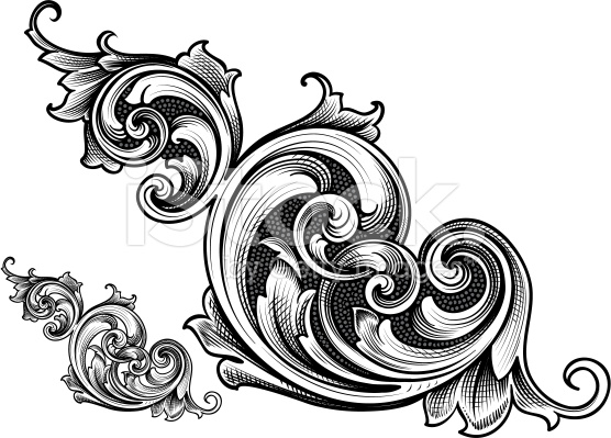 Classics clipart victorian scroll Art stock royalty Connected Victorian