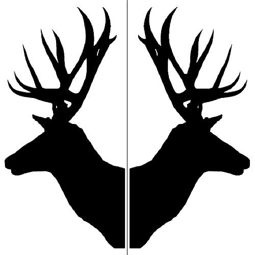Antler clipart doe head & Glass Deer Stencils Moose