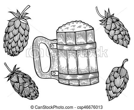 Engraving clipart vector Vector Art Vector and mug