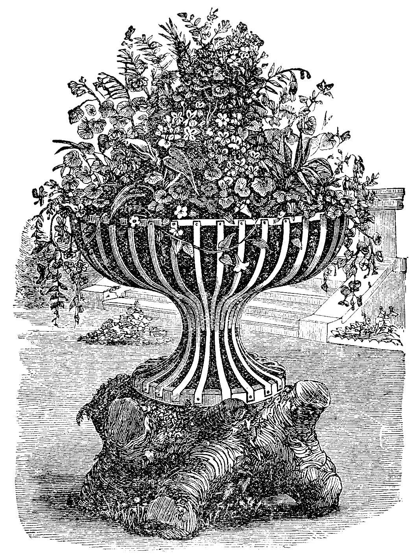 Engraving clipart victorian Urn  Victorian Clip Art