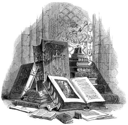Engraving clipart victorian Best on books clip art