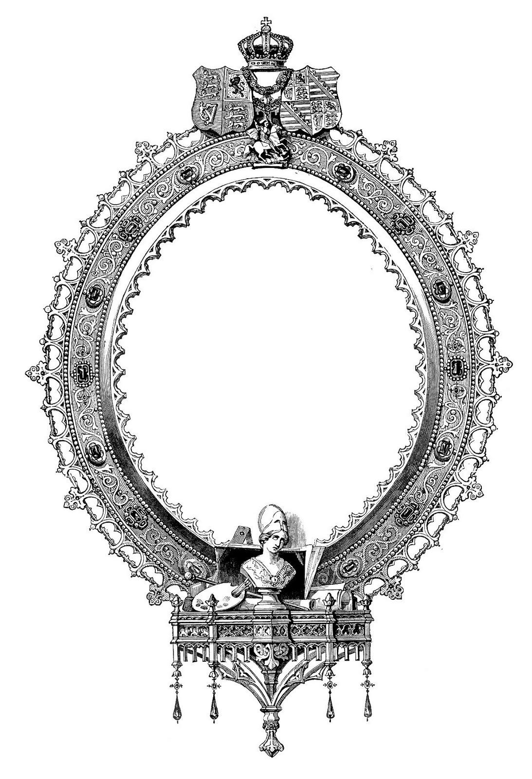 Engraving clipart victorian Graphics Ornate clip art Art