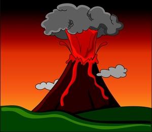 Eruption clipart #9