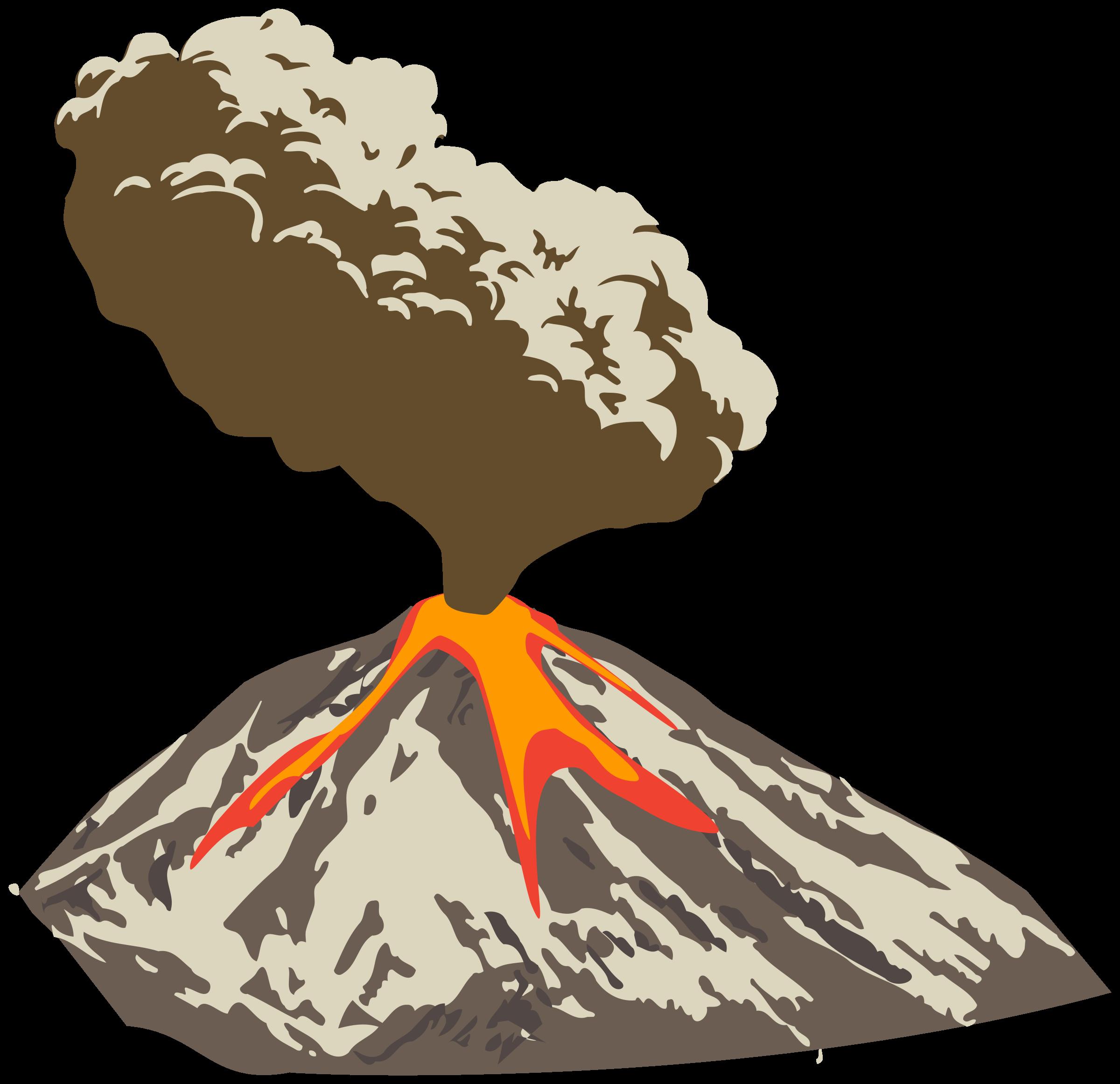 Eruption clipart Erupting Clipart volcano ash flow