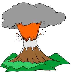 Eruption clipart #10
