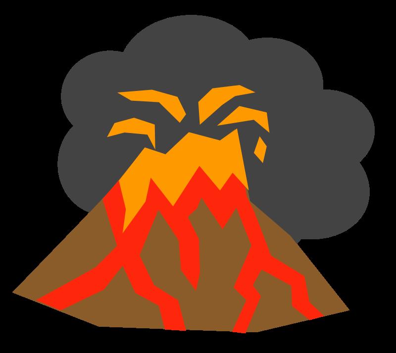 Eruption clipart #5