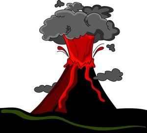 Eruption clipart #3