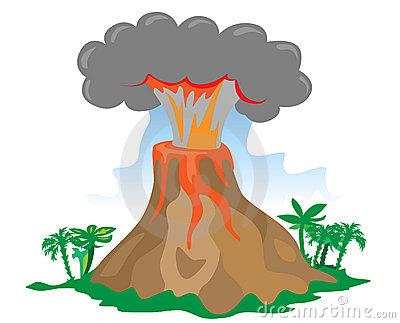 Eruption clipart #2