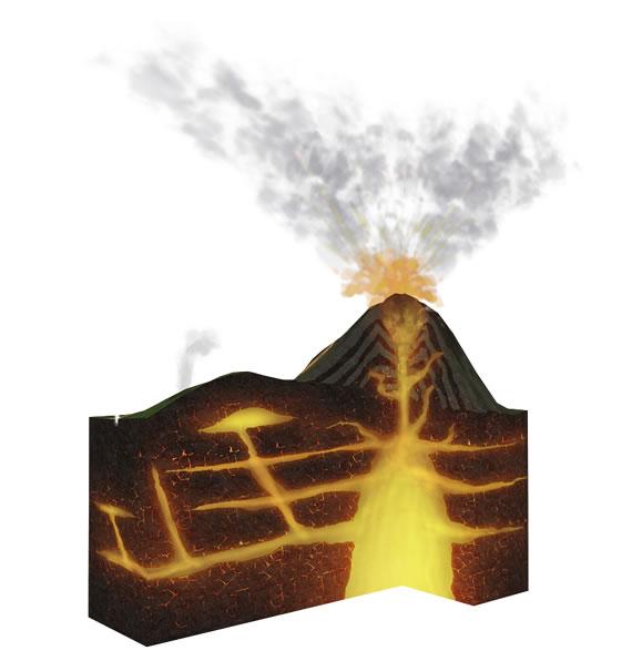Eruption clipart animated Erupt Volcanoes Erupting Volcanoes Animation
