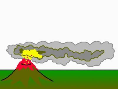 Eruption clipart animated Khafre Animation Volcano volcano Panda