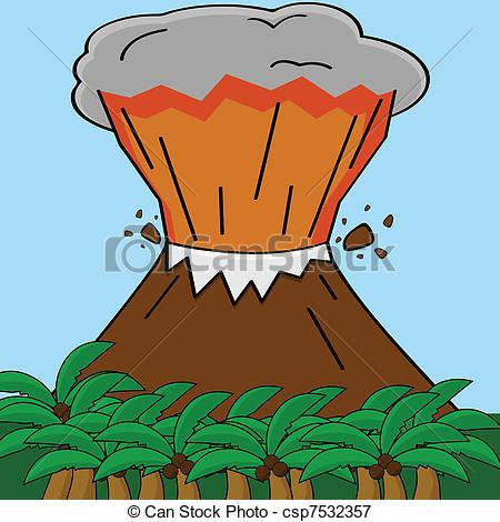 Eruption clipart animated Volcano and an showing Vectors