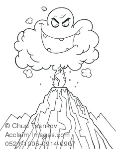 Smoking clipart volcanic eruption Angry Cloud Volcano White Cloud