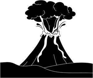 Eruption clipart magma Free Art Art Erupt Clipart