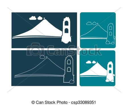 Eruption clipart mayon volcano Cagsawa of Ruins Clipart Volcano