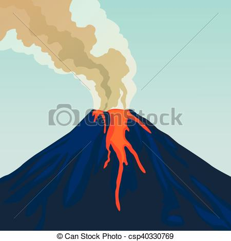 Volcano clipart fire Of Smoke eruption eruption volcano