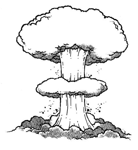 Eruption clipart mushroom cloud Drawing Bomb Jun And Masteri