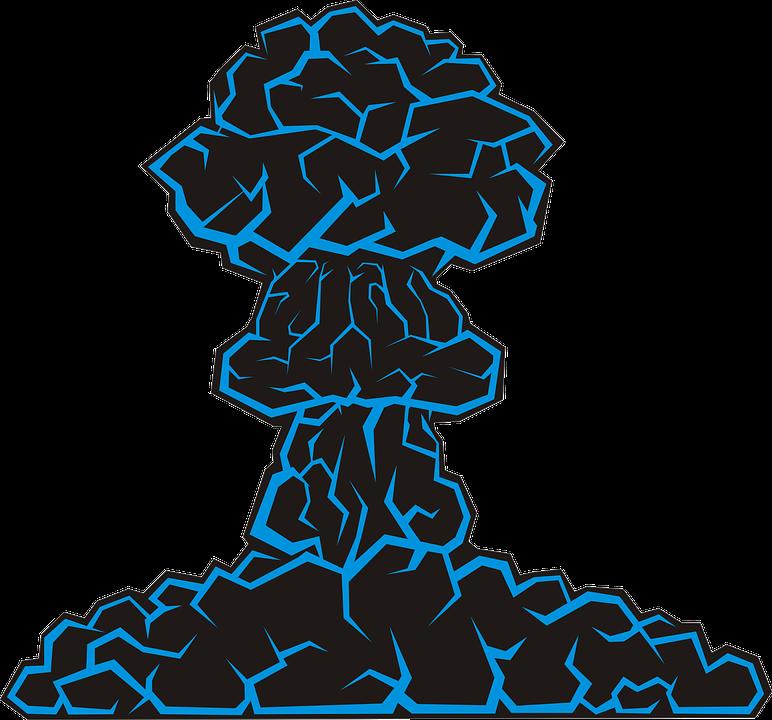 Eruption clipart mushroom cloud Free Explosion Mushroom Boom Atomic