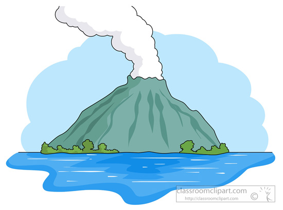 Eruption clipart physical geography Volcano graphics free images for
