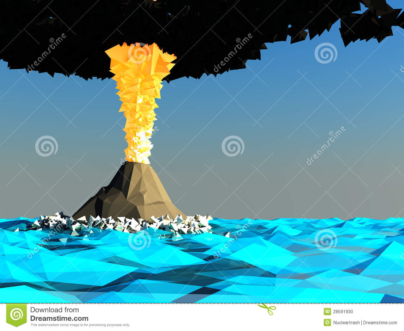 Volcano clipart blue Clipart #4 Volcanic drawings Download