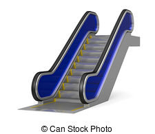 Escalator clipart plan Isolated vector Walkway Stock white