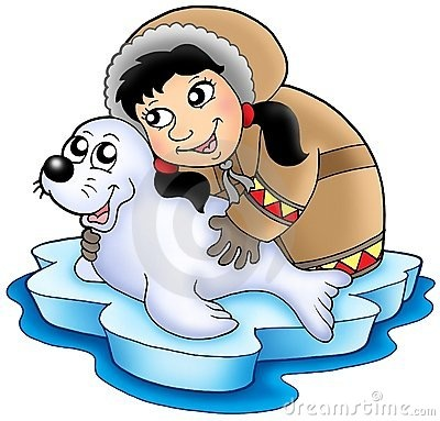 Eskimo clipart happy Girl on Eskimo with clipart