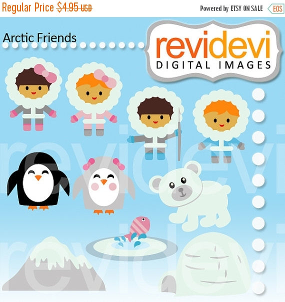 Eskimo clipart arctic Friends commercial instant OFF clipart