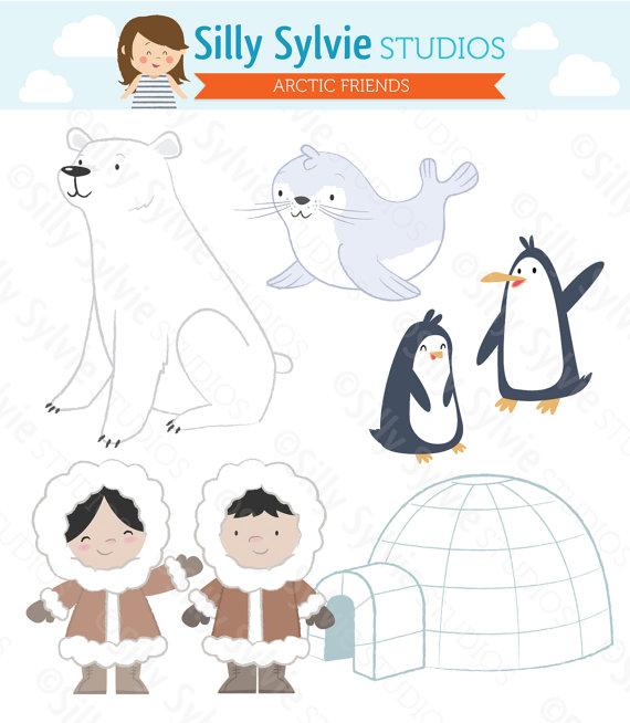 Eskimo clipart arctic Friends Bear Art Art Penguins
