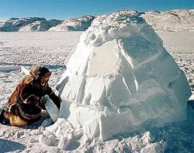 Eskimo clipart building igloo Cut snow 15' wide to