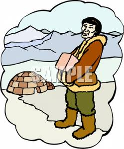 Eskimo clipart ice cream His Man Eskimo Clipart Carrying