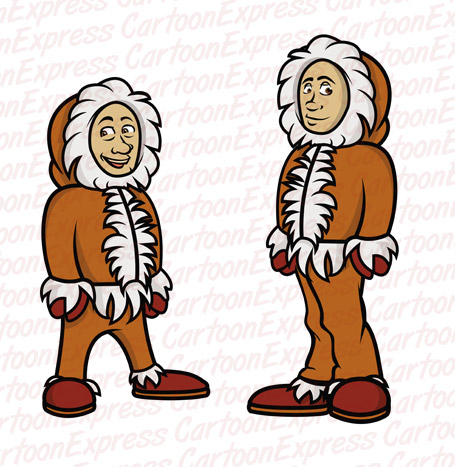 Eskimo clipart cartoon Eskimos Eskimos illustration cartoon vector