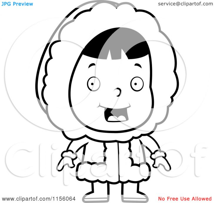 Eskimo clipart coloring Cartoon Pages Pages : Eskimo