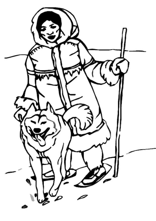Eskimo clipart coloring Eskimo img Coloring Home Coloring