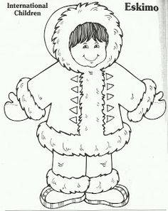 Eskimo clipart coloring Cloth PD Eskimo Paper voor