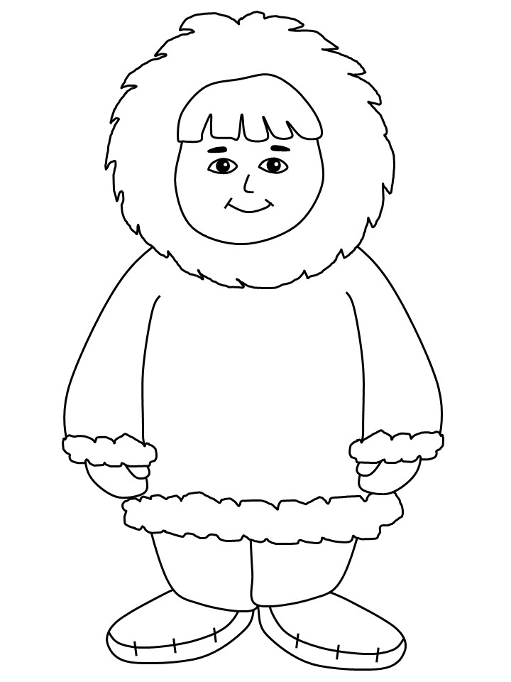 Eskimo clipart coloring Arterey Print Pages In For