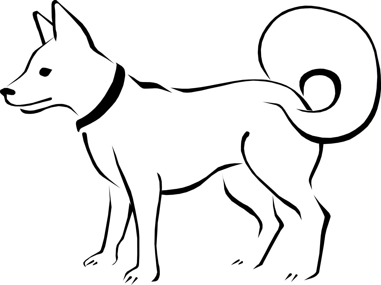 Eskimo clipart coloring Colouring Book Xmas Dog Art