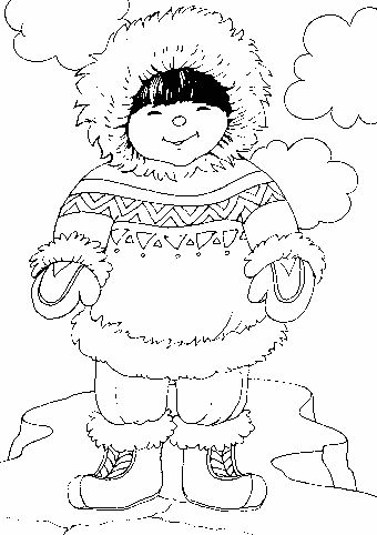 Eskimo clipart coloring And more coloring 2595 on