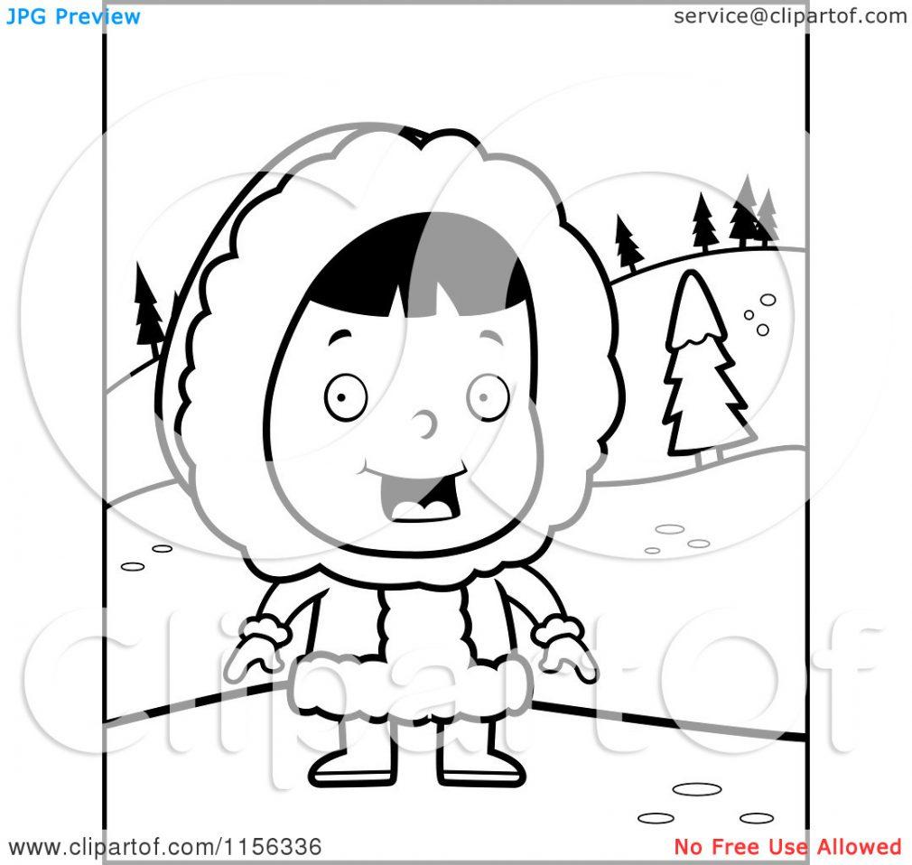 Eskimo clipart coloring Coloring for Eskimo Coloring 77