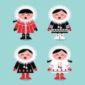 Eskimo clipart cute Free Art white group vector