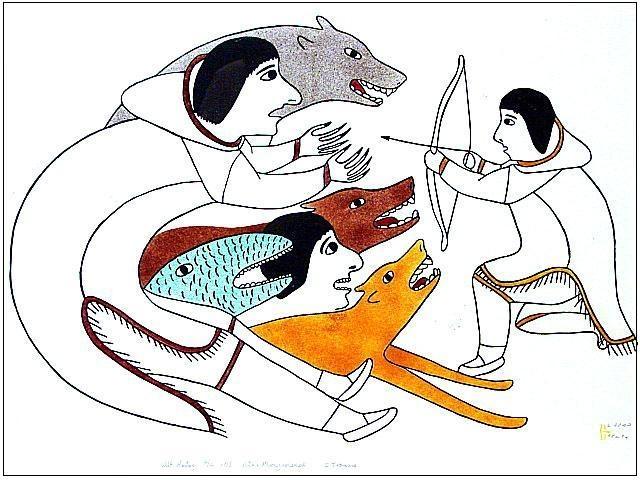 Eskimo clipart hunting Tiktaalaaq Stencils Inuit Victoria Mamnguqsualuk