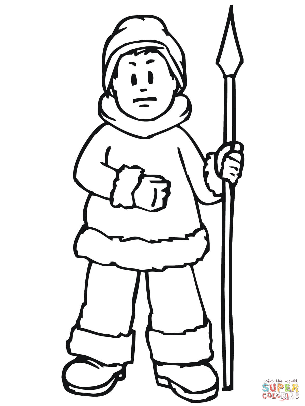 Eskimo clipart hunting Pages coloring Pages Coloring Inuit