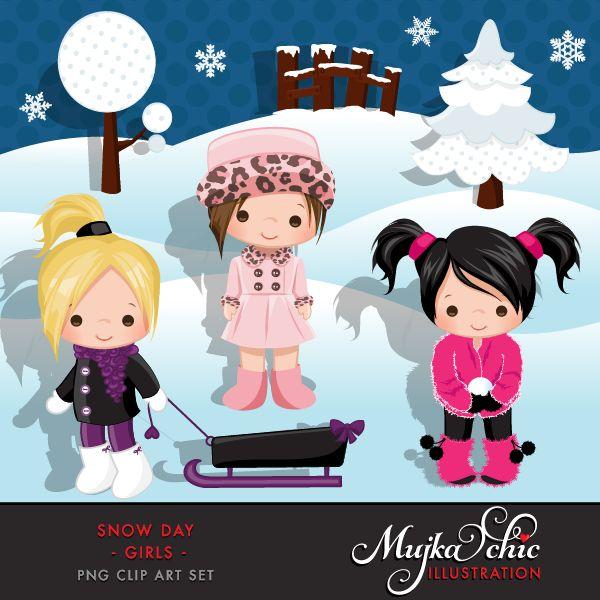 Eskimo clipart snowy day #1