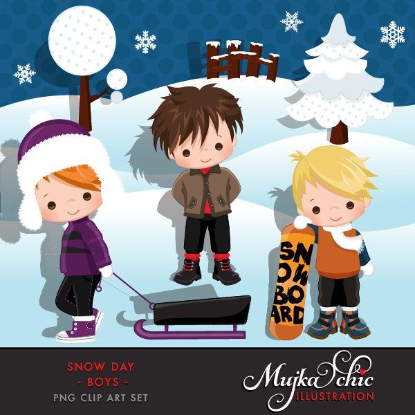 Eskimo clipart snowy day #6