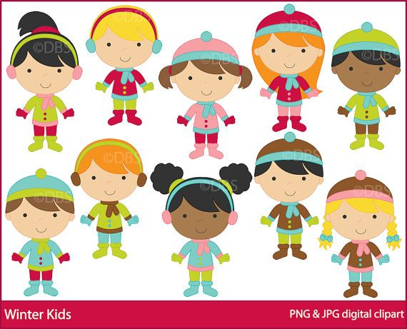 Eskimo clipart winter kid Winter kids clip Pinterest Winter