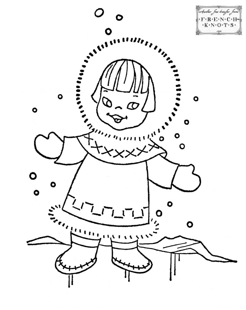 Eskimo clipart winter kid Girl eskimo ColoringColouringWinterCute Pinterest girl