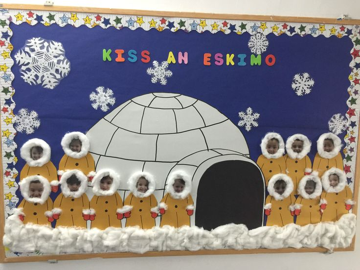 Eskimo clipart winter kid Winter Kiss Bulletin Pinterest winter