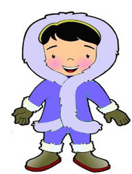 Eskimo clipart winter kid Children eskimo kid Stories for