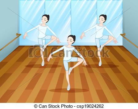 Ballet clipart dance studio Vectores de dentro  Art