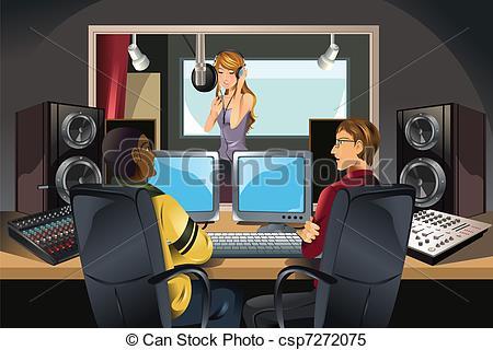 Estudio clipart Recording music art clip studio